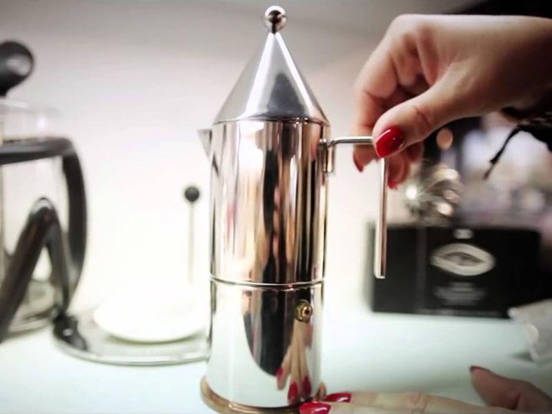 Cafetera La cónica de Alessi
