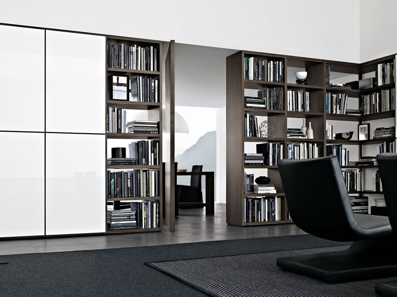 Librería Wall System de CR&S Poliform