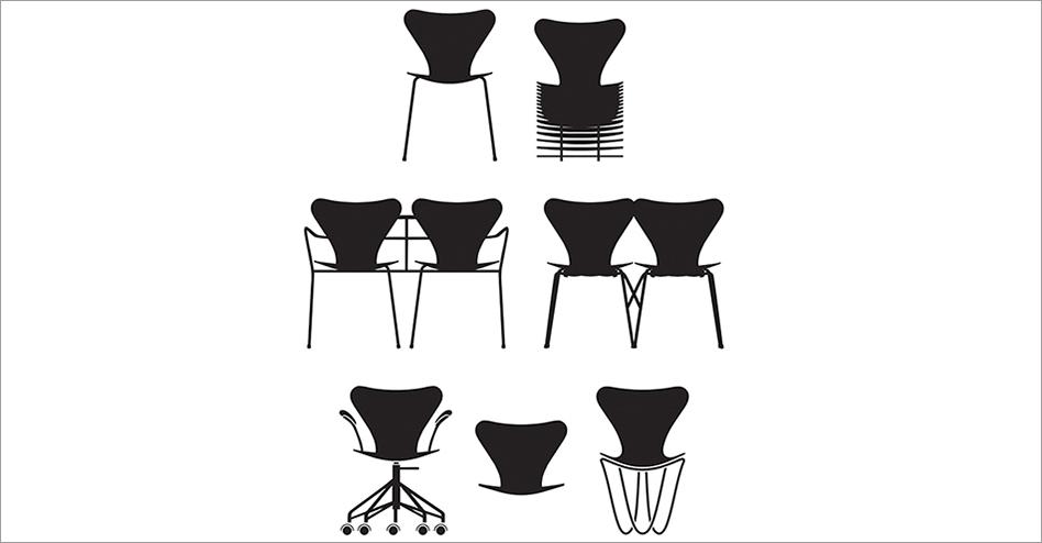 Las nuevas interpretaciones de la silla SERIE 7 ™ CHAIR de Fritz Hansen