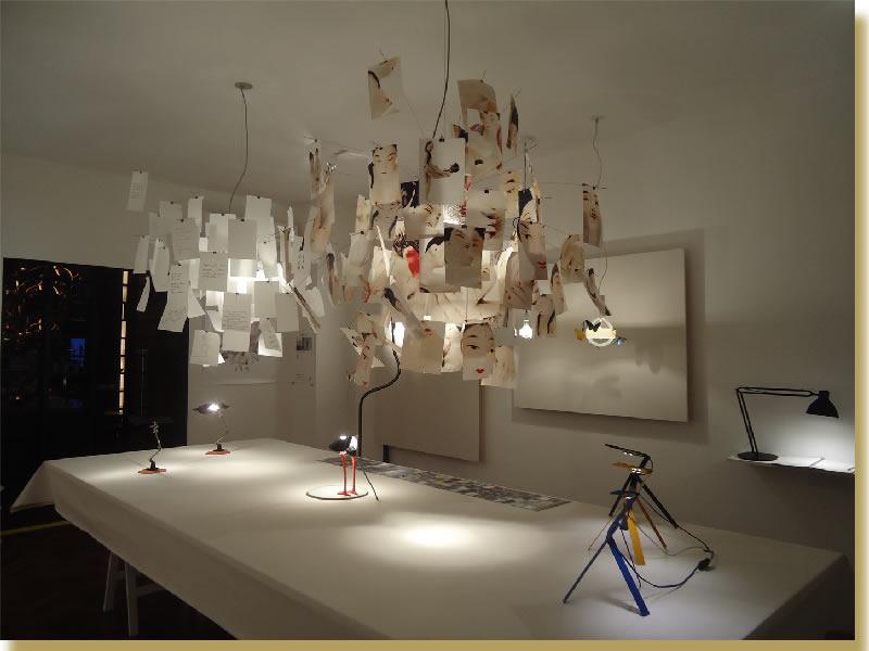 Lámpara de suspensión Zettel´z de Ingo Maurer