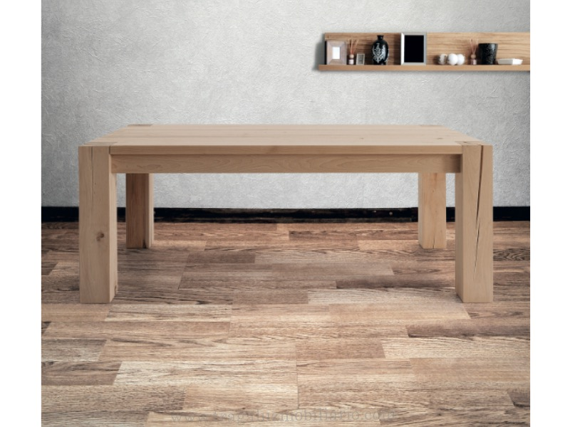 Mesa 12 mobiliario de dise o en valladolid reformas - Tableros de madera maciza para mesas ...