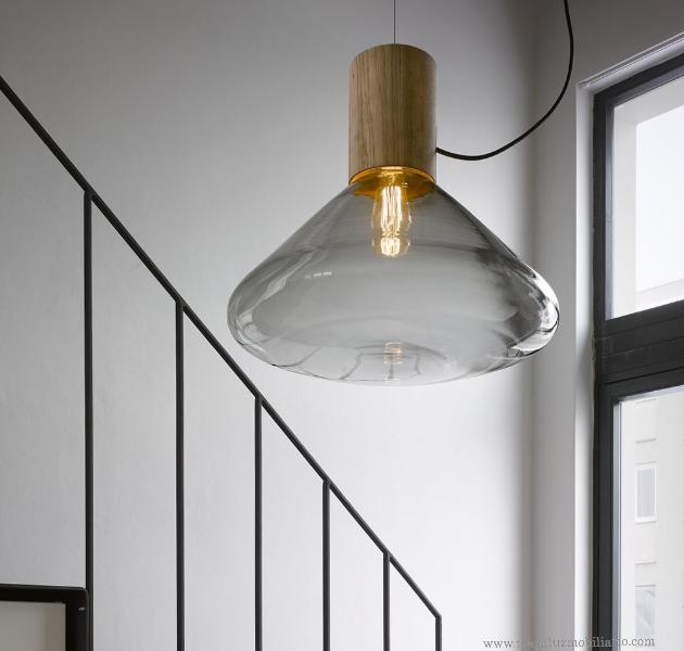 Lámpara artesanal de suspensión