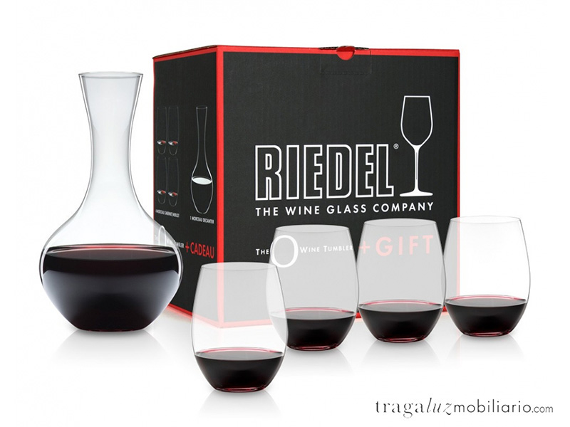 Pack regalo copas Riedel vasos+decanter