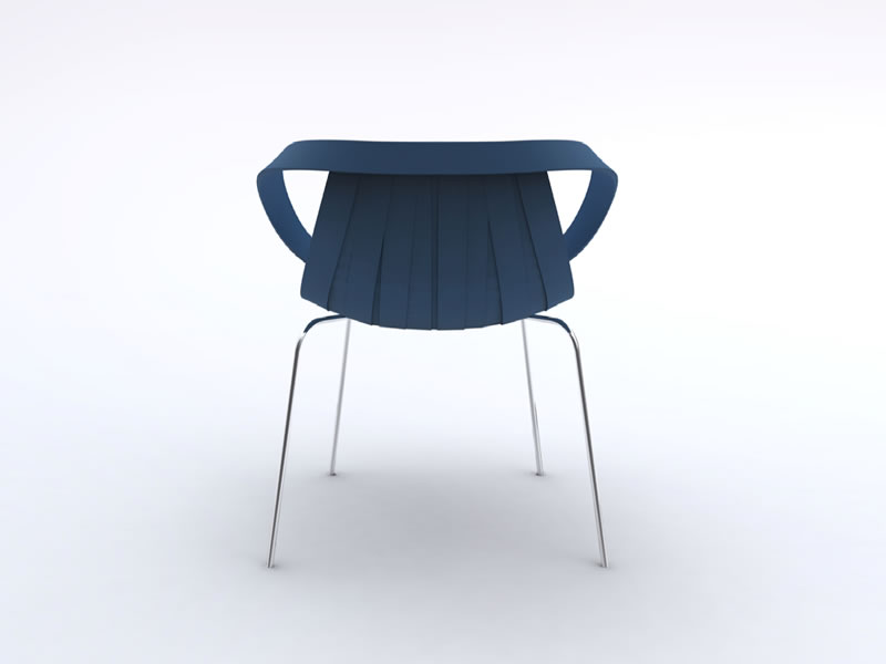 Silla Impossible Wood diseño N. Doshi & J. Levien para Moroso
