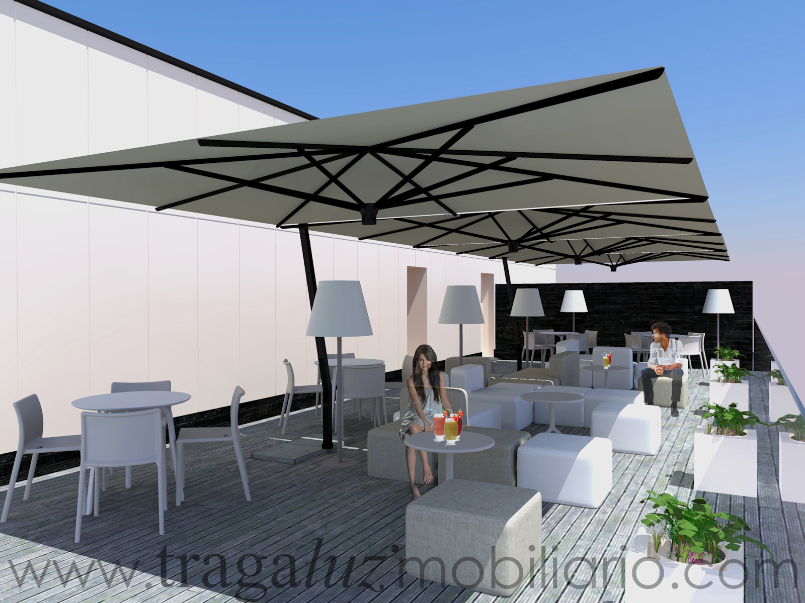 Moderno mobiliario para la terraza revista muebles for Muebles terraza diseno