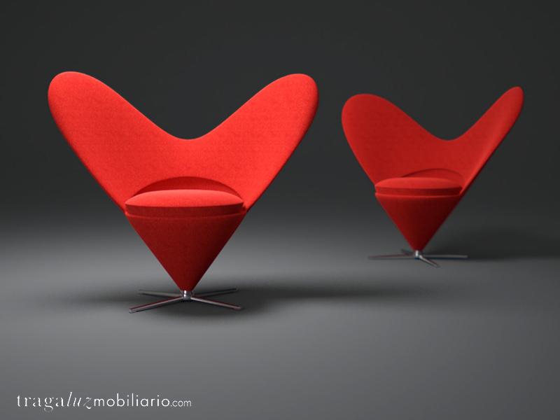 Heart Cone Chair de Verner Panton para Vitra